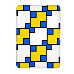 Yellow and blue squares pattern Samsung Galaxy Tab 2 (10.1 ) P5100 Hardshell Case