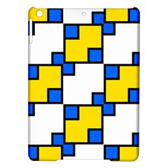 Yellow and blue squares pattern Apple iPad Air Hardshell Case