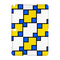Yellow and blue squares pattern Samsung Galaxy Note 10.1 (P600) Hardshell Case