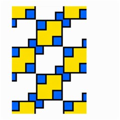 Yellow and blue squares pattern  Small Garden Flag