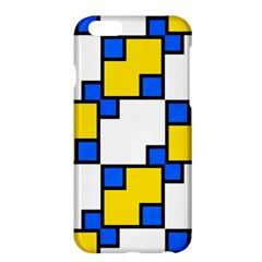 Yellow and blue squares pattern 	Apple iPhone 6 Plus Hardshell Case