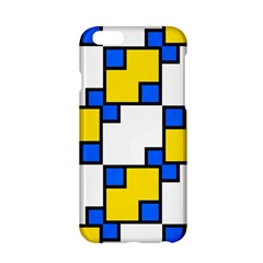 Yellow and blue squares pattern  Apple iPhone 6 Hardshell Case