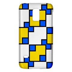 Yellow and blue squares pattern Samsung Galaxy S5 Mini Hardshell Case