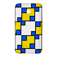 Yellow and blue squares pattern  Nokia Lumia 630 Hardshell Case