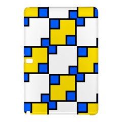 Yellow And Blue Squares Pattern Samsung Galaxy Tab Pro 10 1 Hardshell Case