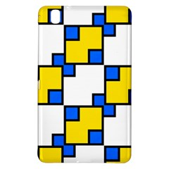 Yellow And Blue Squares Pattern 	samsung Galaxy Tab Pro 8 4 Hardshell Case