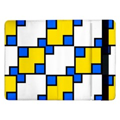 Yellow and blue squares pattern 	Samsung Galaxy Tab Pro 12.2  Flip Case