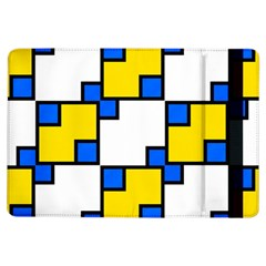 Yellow and blue squares pattern Apple iPad Air Flip Case