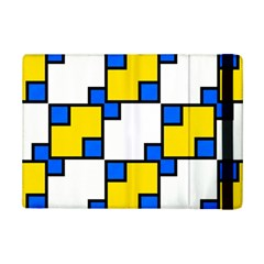 Yellow and blue squares pattern 	Apple iPad Mini 2 Flip Case