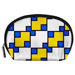 Yellow and blue squares pattern  Accessory Pouch
