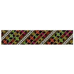 Colorful Tribal Print Flano Scarf (Small)