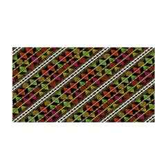 Colorful Tribal Print Satin Wrap