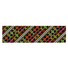 Colorful Tribal Print Satin Scarf (Oblong)