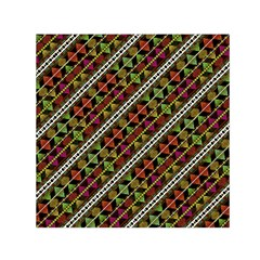 Colorful Tribal Print Small Satin Scarf (square)