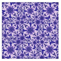 Decorative Floral Print Large Satin Scarf (Square)