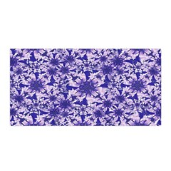 Decorative Floral Print Satin Wrap