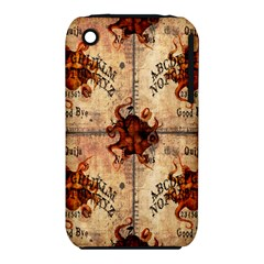 Here There Be Monsters Talking Board Apple iPhone 3G/3GS Hardshell Case (PC+Silicone)