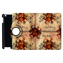 Here There Be Monsters Talking Board Apple iPad 2 Flip 360 Case