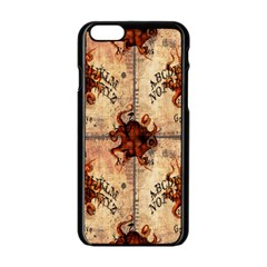 Here There Be Monsters Talking Board Apple iPhone 6 Black Enamel Case
