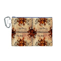 Here There Be Monsters Talking Board Canvas Cosmetic Bag (Medium)