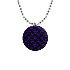 Luxury Pattern Print Button Necklace