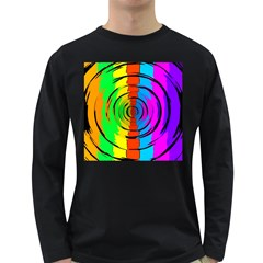 Rainbow Test Pattern Men s Long Sleeve T Shirt (dark Colored)