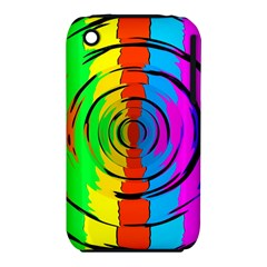 Rainbow Test Pattern Apple Iphone 3g/3gs Hardshell Case (pc+silicone)