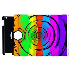 Rainbow Test Pattern Apple iPad 2 Flip 360 Case