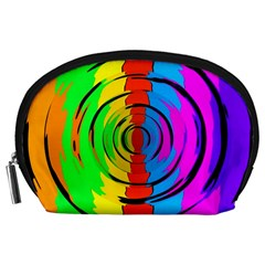 Rainbow Test Pattern Accessory Pouch (large)