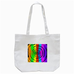 Rainbow Test Pattern Tote Bag (white)