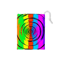 Rainbow Test Pattern Drawstring Pouch (Small)