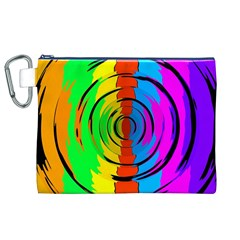 Rainbow Test Pattern Canvas Cosmetic Bag (XL)