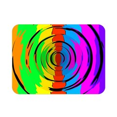 Rainbow Test Pattern Double Sided Flano Blanket (Mini)
