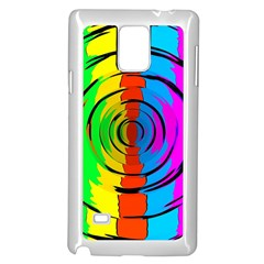 Rainbow Test Pattern Samsung Galaxy Note 4 Case (White)