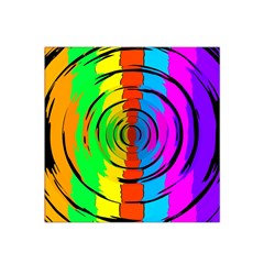 Rainbow Test Pattern Satin Bandana Scarf