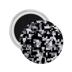 Background Noise In Black & White 2 25  Button Magnet