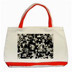Background Noise In Black & White Classic Tote Bag (red)