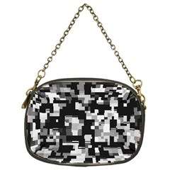Background Noise In Black & White Chain Purse (one Side)