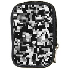Background Noise In Black & White Compact Camera Leather Case