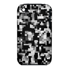Background Noise In Black & White Apple Iphone 3g/3gs Hardshell Case (pc+silicone)
