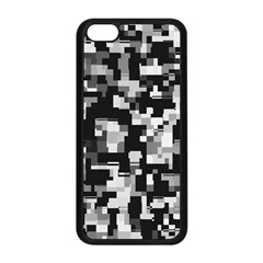 Background Noise In Black & White Apple iPhone 5C Seamless Case (Black)
