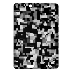 Background Noise In Black & White Kindle Fire HD (2013) Hardshell Case