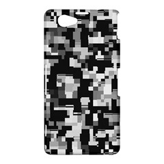 Background Noise In Black & White Sony Xperia Z1 Compact Hardshell Case
