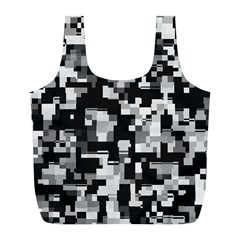 Background Noise In Black & White Reusable Bag (L)