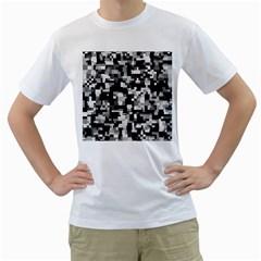 Background Noise In Black & White Men s T Shirt (white)