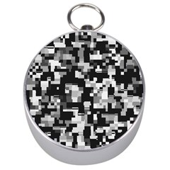 Background Noise In Black & White Silver Compass