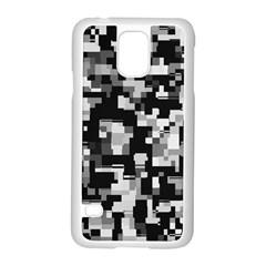 Background Noise In Black & White Samsung Galaxy S5 Case (white)