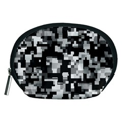 Background Noise In Black & White Accessory Pouch (Medium)