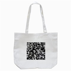 Background Noise In Black & White Tote Bag (White)