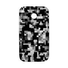 Background Noise In Black & White Motorola Moto E Hardshell Case